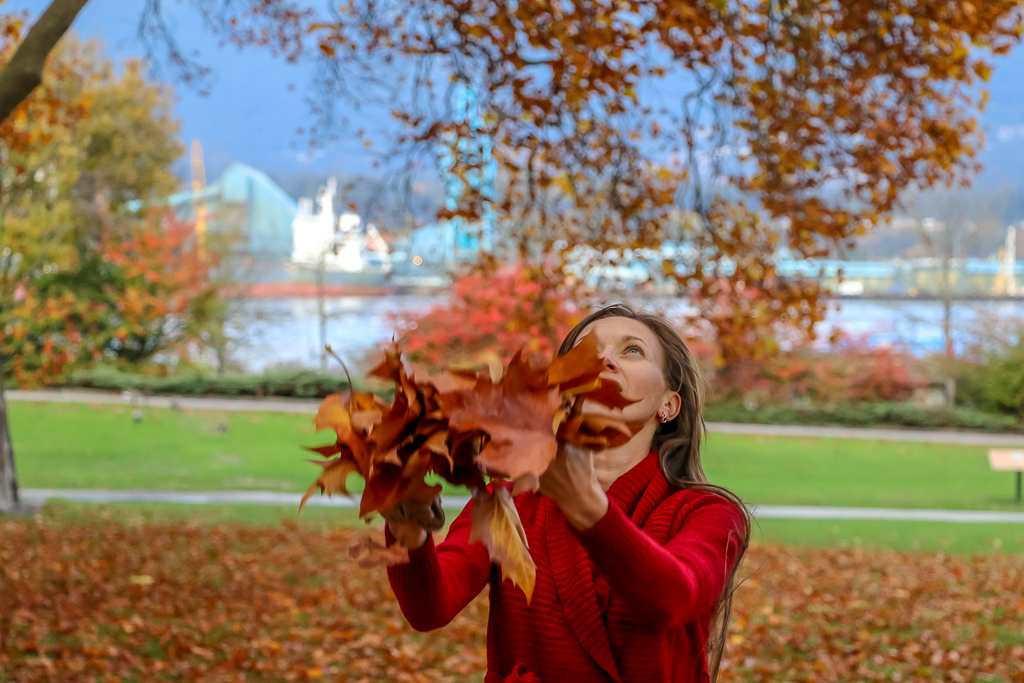 Playing with fall colors at Stanley Park