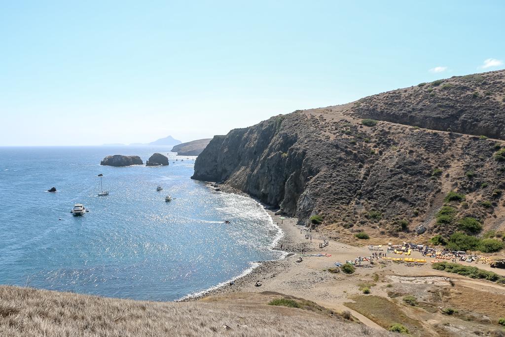 Anacapa Island looks barren in August