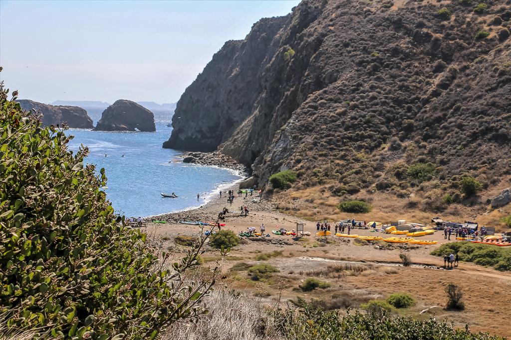 Arrival at Anacapa Island