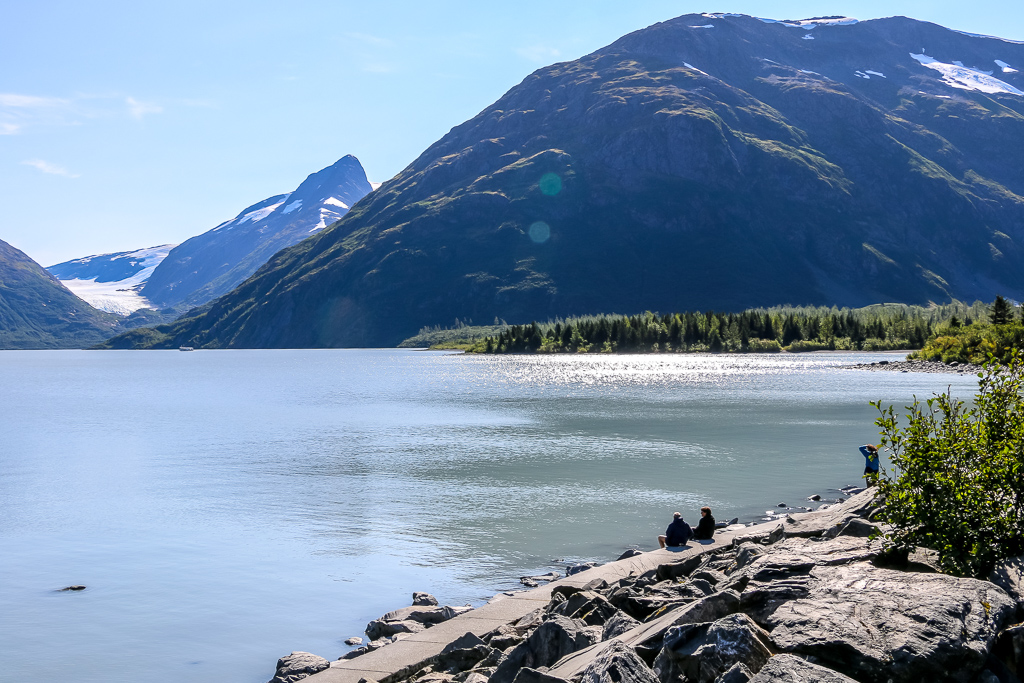 Portage Lake attracts with incredible view of Portage Glacier
