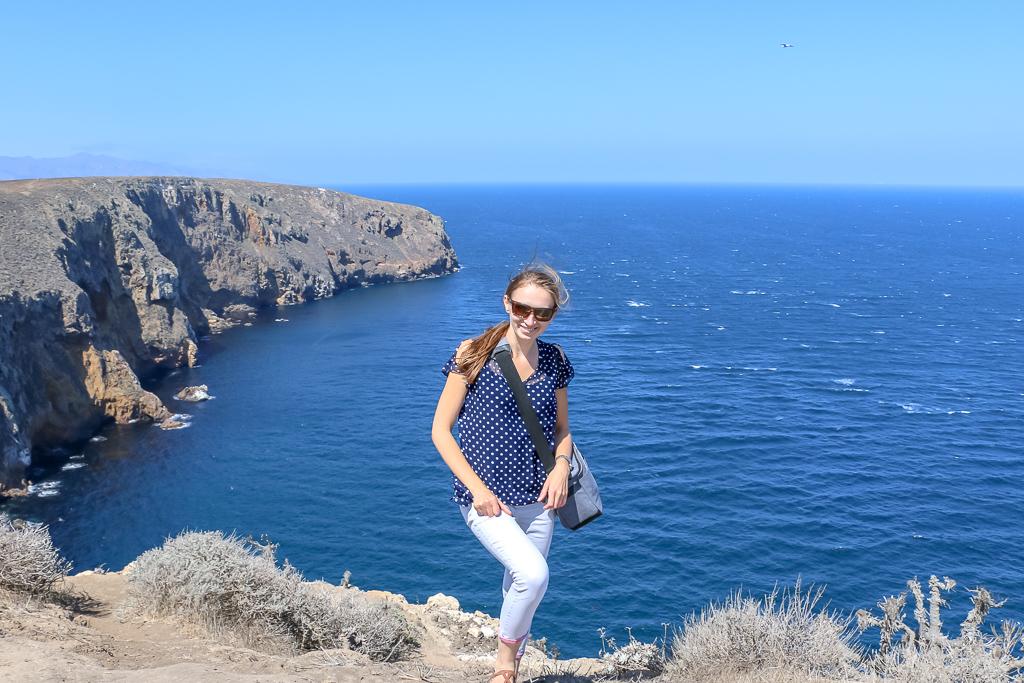 Smiling and hiking, Anacapa Island