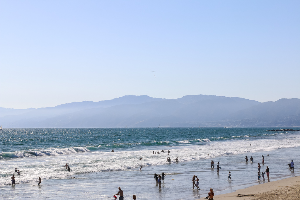 Some Beaches in Los Angeles Get Very Busy Pretty Fast