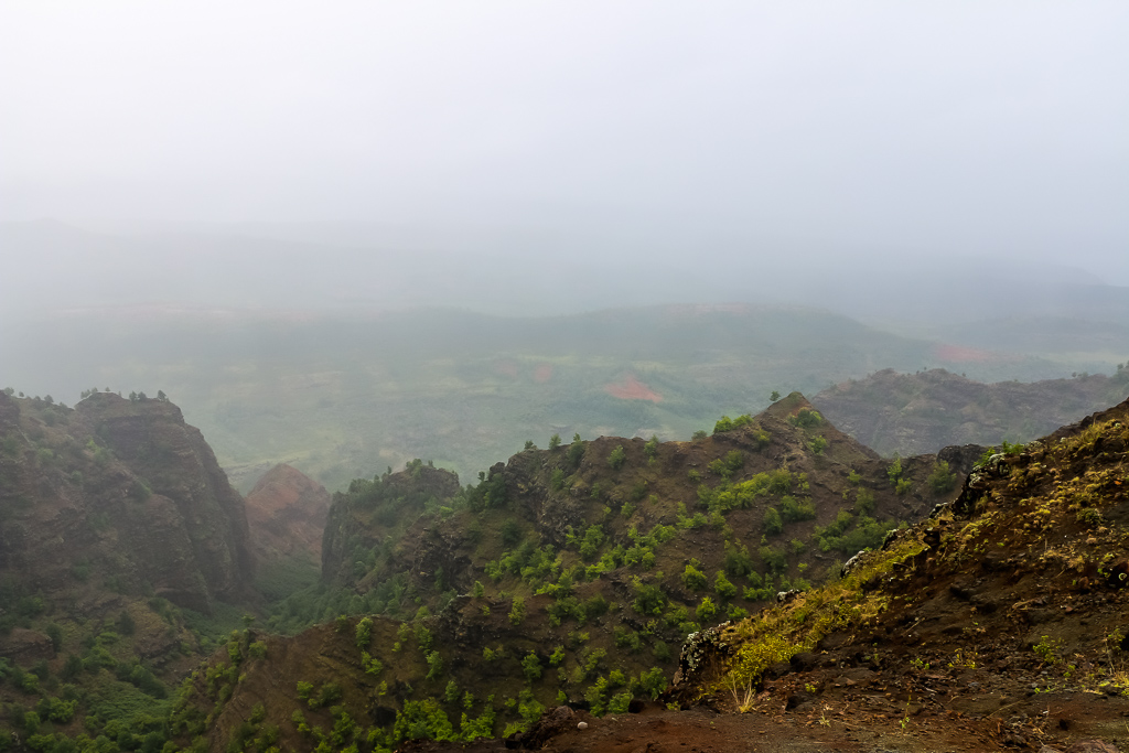 Because of fog, we didn't get clear view from Kalalau Lookout