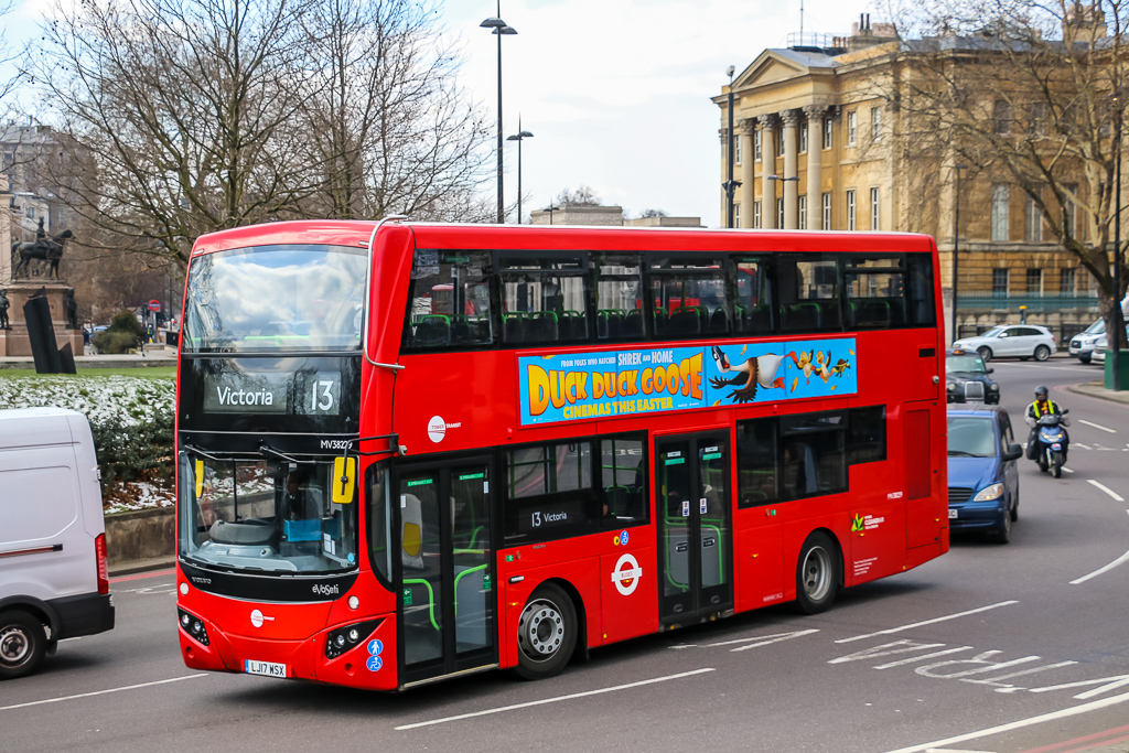 Exploring London with a double-decker bus