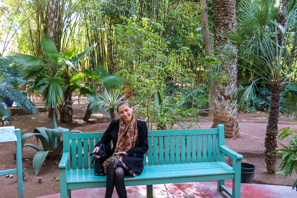 Green oasis in the Marrakech