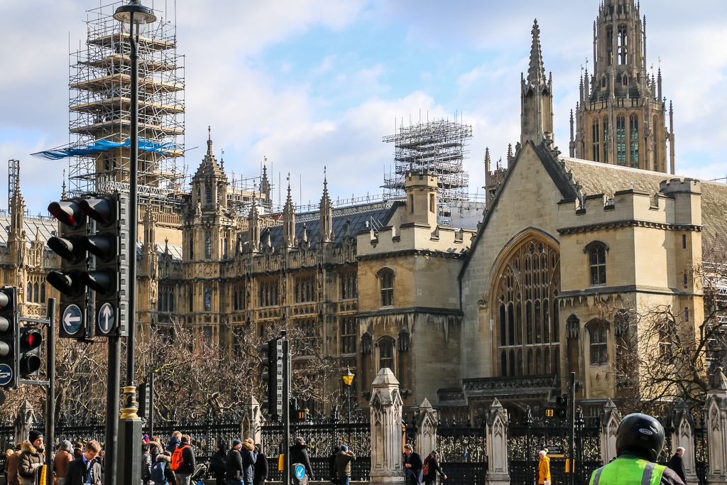 Palace of Westminster under construction