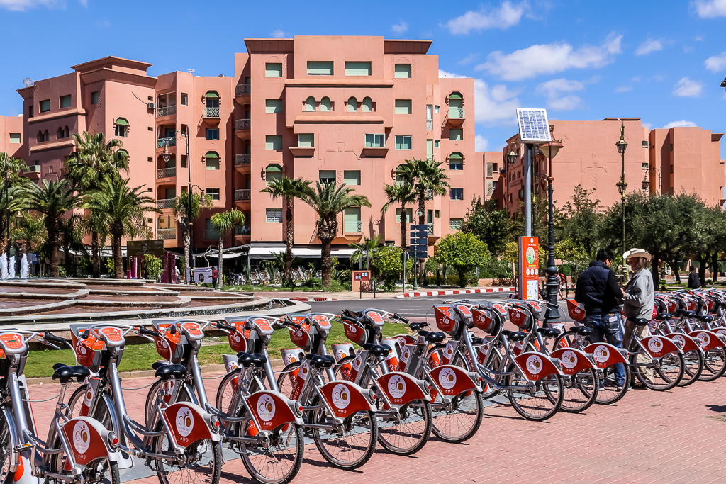 Rental bikes in the new city