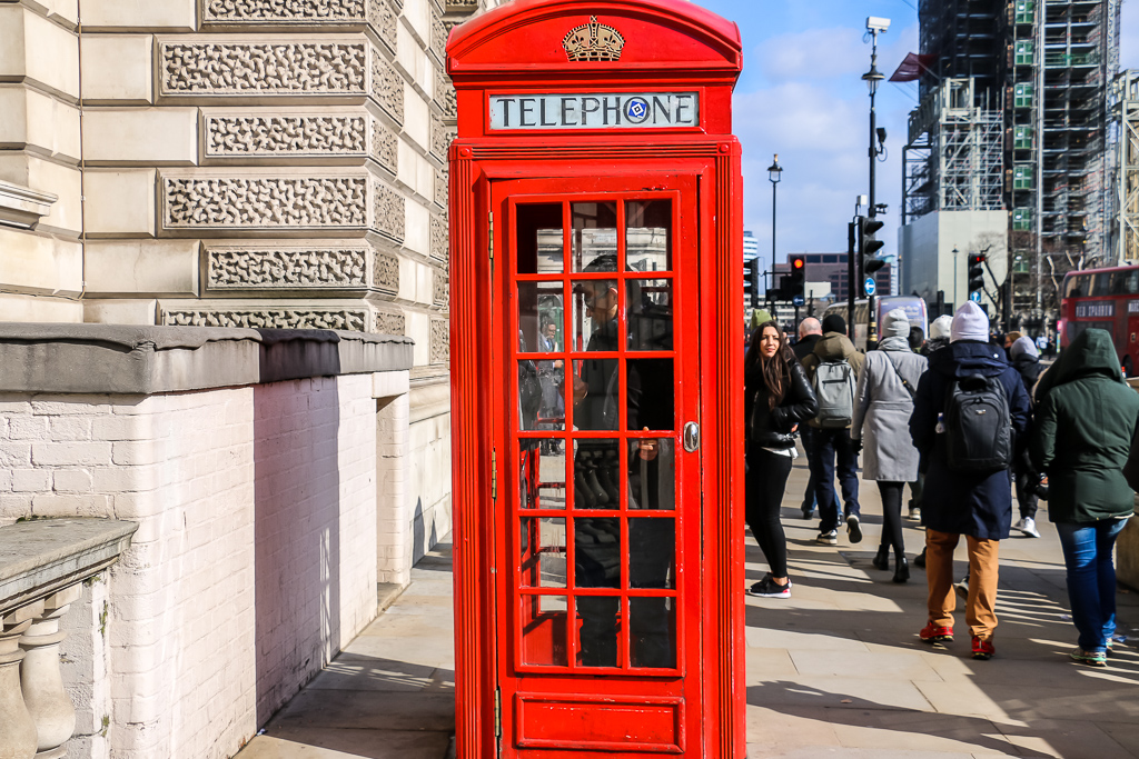 and signature red phone booths