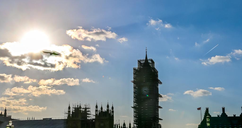 The Big Ben under construction