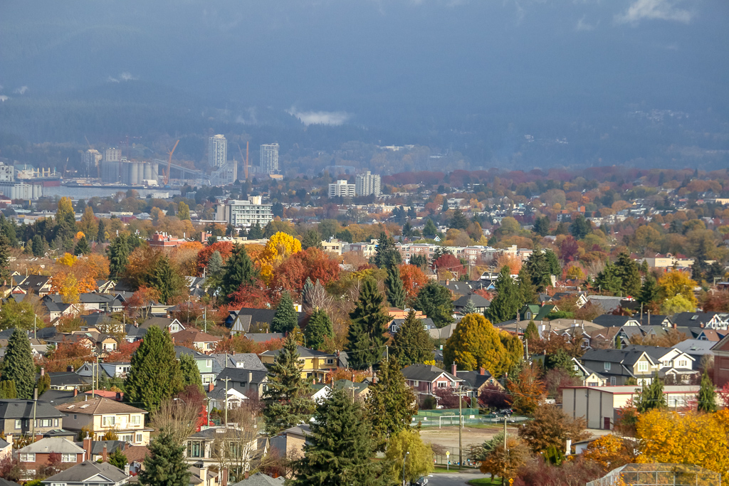 The City of Vancouver in Fall