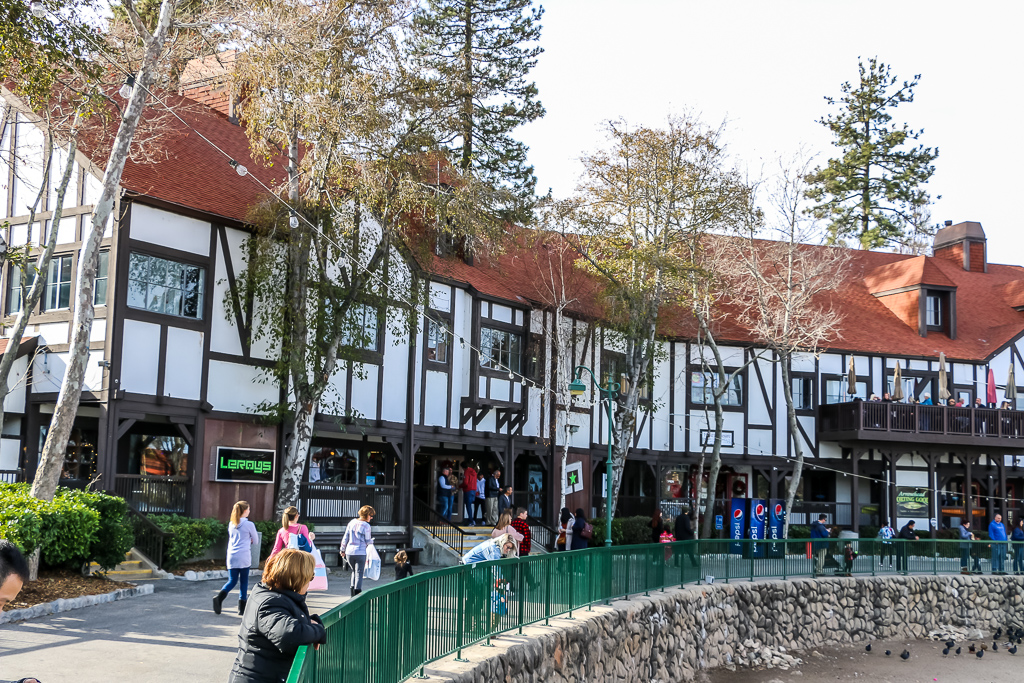 Waterfront shops of Lake Arrowhead Village