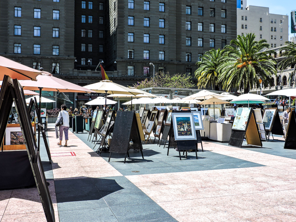 Art for sale at Union Square