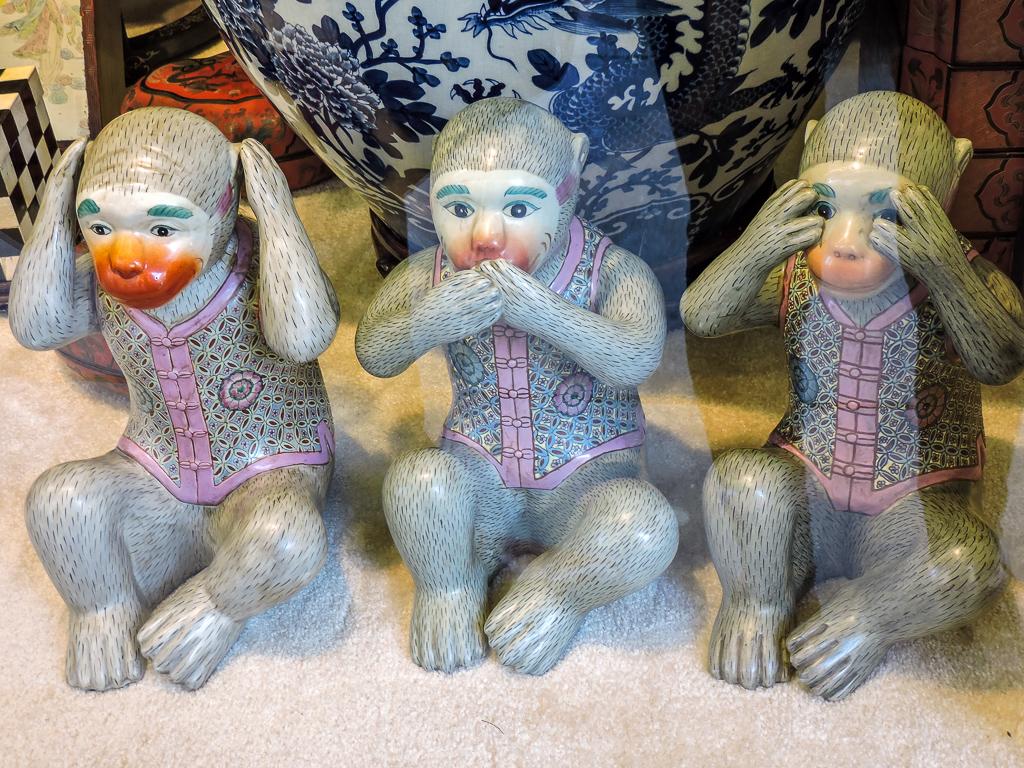 Three monkeys for our San Francisco photo diary