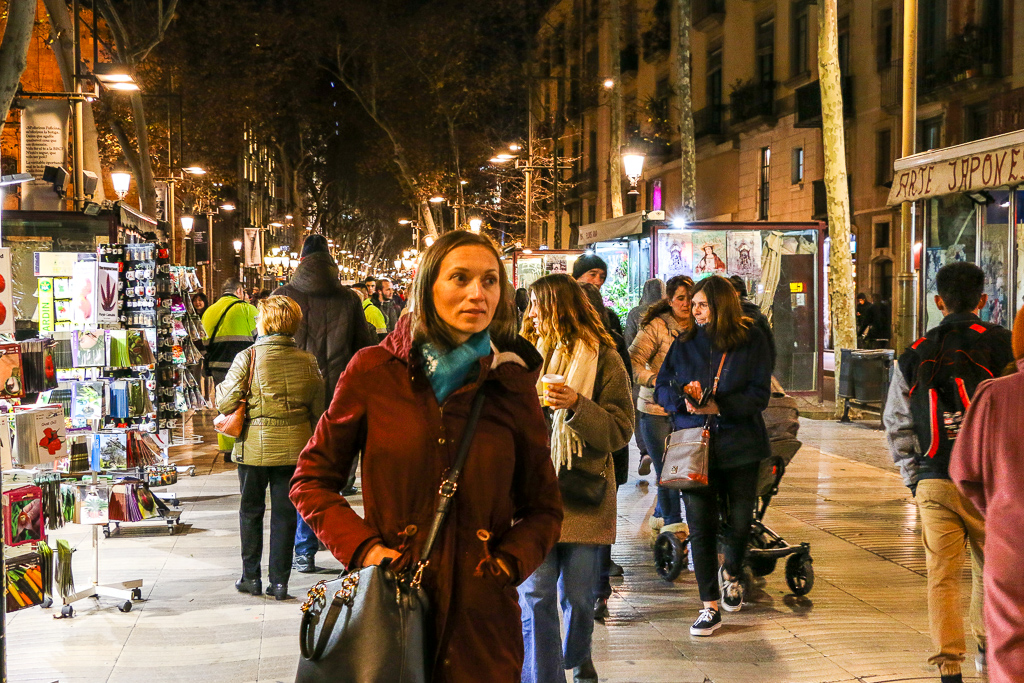 More than Destination, La Rambla at night