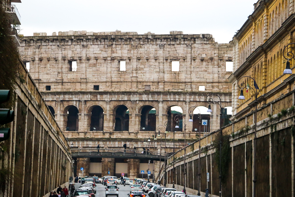 Colosseum, Roads and Destinations