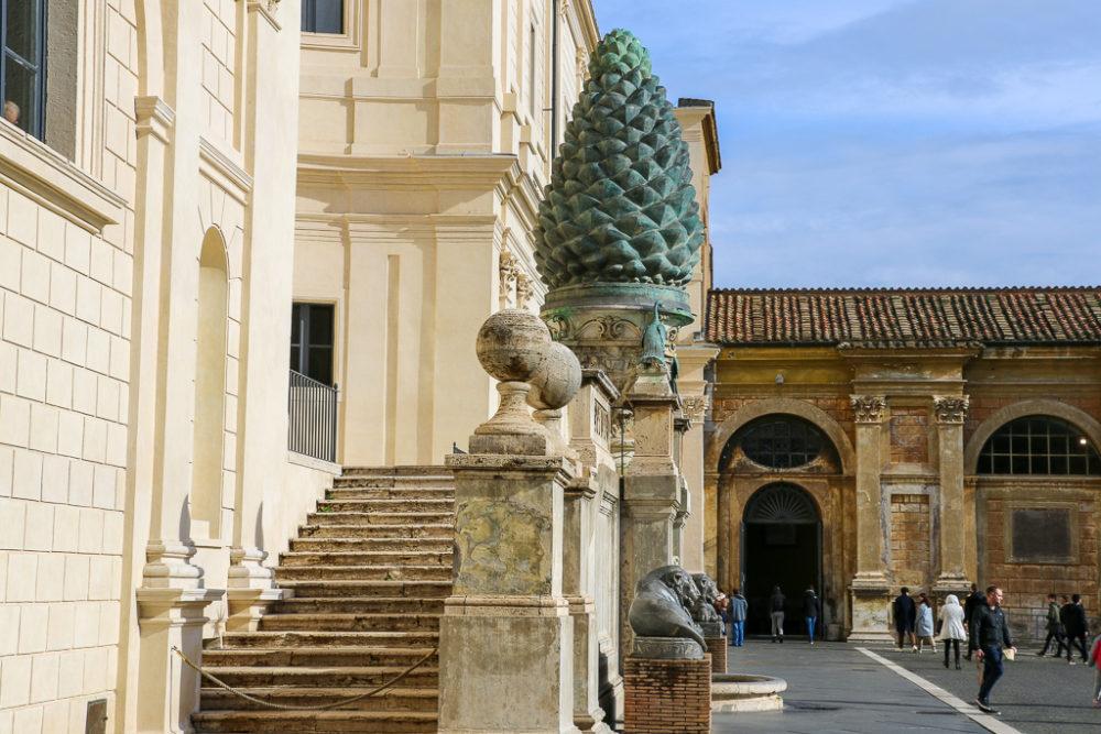 Travel Virtually, Vatican Courtyard, roadsanddestinations.com