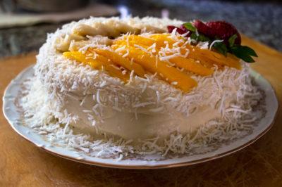 Tropical Coconut Cake - Roads and Destinations, roadsanddestinations.com