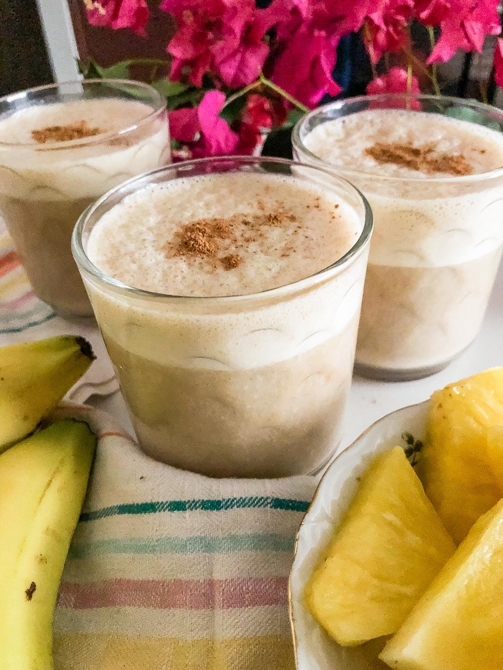 Vegan Banana Pineapple Licuado - Roads and Destinations, roadsanddestinations.com