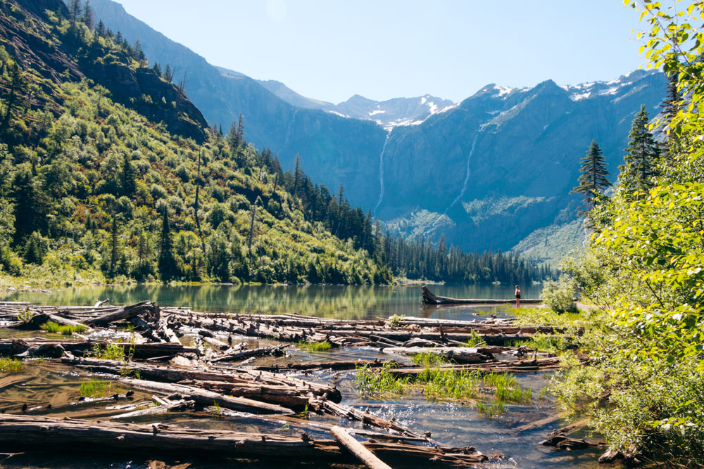 Avalanche Lake - Roads and Destinations