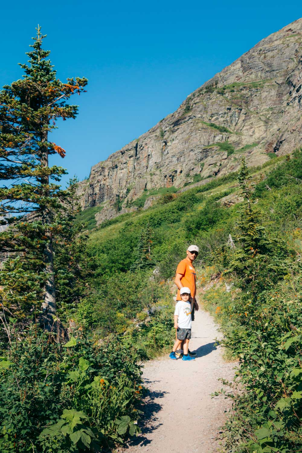 Grinnell Glacier Overlook Trail, Hike in Many Glacier - Roads and Destinations