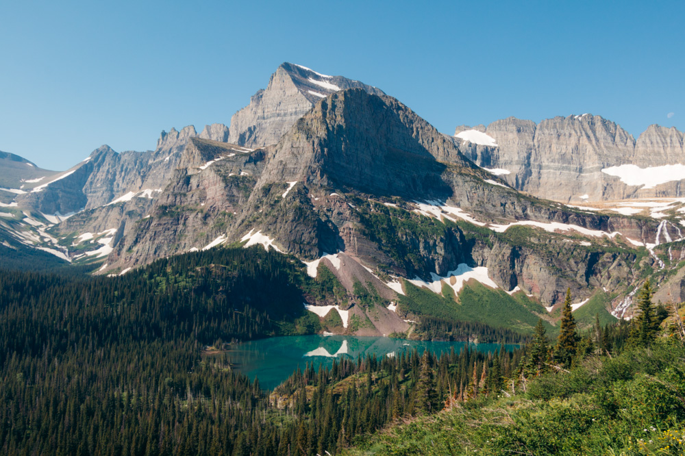 Grinnell Lake - Roads and Destinations